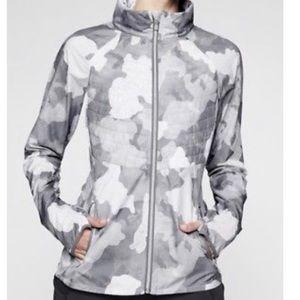 Athleta Elevation Jacket in Camo Gray